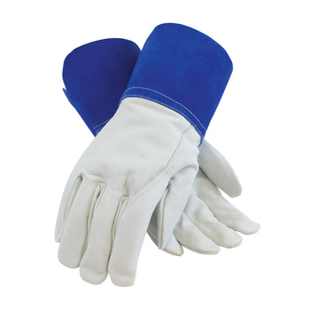 PIP Top Grain Goatskin Leather Mig Tig Welder'sGlove with Kevlar Stitching - Leather Slip-On Cuff - 75-4854