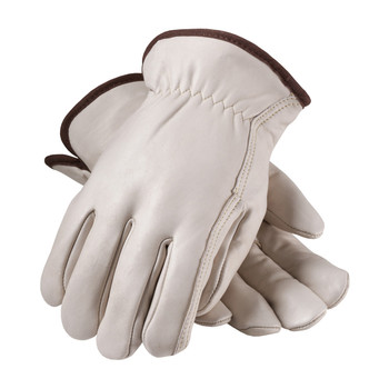 PIP Regular Grade Top Grain Cowhide Leather Glove with Red Foam Lining - Straight Thumb - 77-208