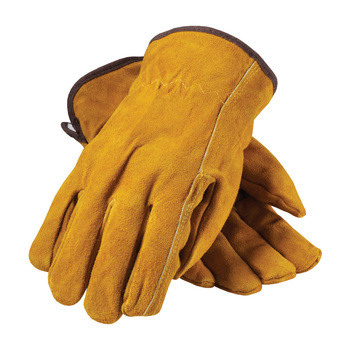 PIP Regular Grade Split Cowhide Leather Glove with White Thermal Lining - Straight Thumb - 77-238