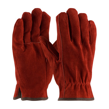 PIP  Premium Grade Split Cowhide Leather Glove with Fleece Pile Lining - Straight Thumb - 77-248