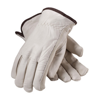 PIP Regular Grade Top Grain Cowhide Leather Glove with White Thermal Lining - Keystone Thumb - 77-265