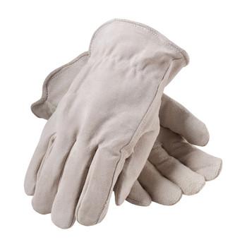 PIP Premium Grade Split Cowhide Leather Glove with Fleece Pile Lining - Keystone Thumb - 77-289