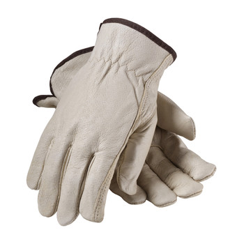 PIP Premium Grade Top Grain Pigskin Leather Glove with Red Thermal Lining - Keystone Thumb - 77-468