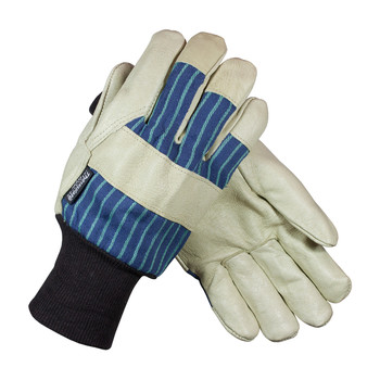 PIP Pigskin Leather Palm Glove with Fabric Back & 3M Thinsulate Lining - Knitwrist - 78-3927KW