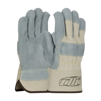 PIP  Heavy Side Split Cowhide Leather Palm Glove with Canvas Back and Kevlar® Stitching - Duck Safety Cuff - 80-8889