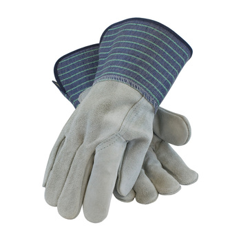 """PIP """"A/B"""" Grade Shoulder Split Cowhide Leather Glove with Full Leather Back - Rubberized Gauntlet Cuff - 82-5066"""