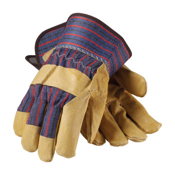 PIP PIP Premium Grade Top Grain Pigskin Leather Palm Glove with Fabric Back - Safety Cuff - 87-3563