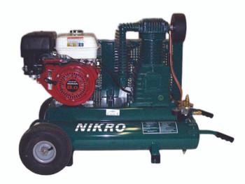 Nikro 9 H.P. Honda 2 Stage 175 PSI Portable Gasoline Compressor - 860544