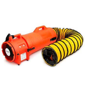 """Allegro 8"""" Plastic COM-PAX-IAL Blower w/ Canister & 25' Ducting - 9533-25"""