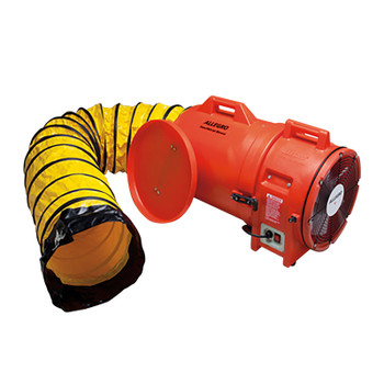 """Allegro 12"""" Plastic COM-PAX-IAL Blower w/ Canister & 25' Ducting - 9543-25"""