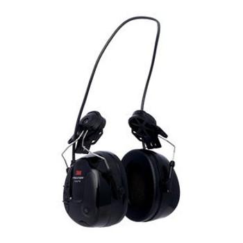 3M PELTOR ProTac III Headset Black Hard Hat Attached MT13H221P3E