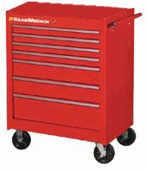 """27"""" 5 Drawer TEP Series Red Roller Cabinet - 83123RD"""