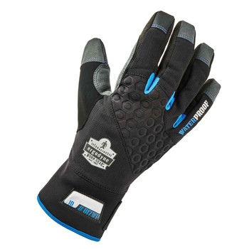 Ergodyne ProFlex 817WP Black Reinforced Thermal Waterproof Utility Gloves