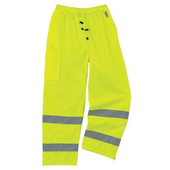 Ergodyne GloWear 8915 Lime Supplemental Class E Rain Pants
