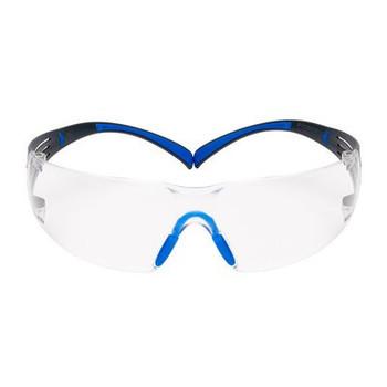 3M™ SecureFit™, 400 Series, SF401SGAF-BLU, Blue/Gray, Clear Scotchgard™ Anti-fog lens, 20ea/cs