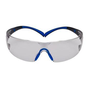 3M™ SecureFit™, 400 Series, SF407SGAF-BLU, Blue/Gray, I/O Gray Scotchgard™ Anti-fog lens, 20ea/cs