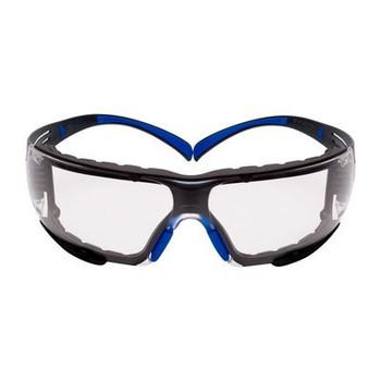 3M™ SecureFit™, 400 Series,  SF401SGAF-BLU-F, Blue/Gray, Clear Scotchgard™ Anti-fog lens, Foam Gasket, 20ea/cs