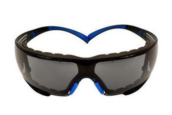 3M™ SecureFit™, 400 Series,  SF402SGAF-BLU-F, Blue/Gray, Gray Scotchgard™ Anti-fog lens, Foam Gasket, 20ea/cs