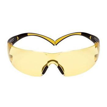3M™ SecureFit™, 400 Series, SF403SGAF-YEL, Yellow/Black, Amber Scotchgard™ Anti-fog lens, 20ea/cs