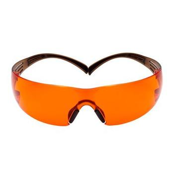 3M™ SecureFit™, 400 Series,  SF406SGAF-BLA, Black/Brown, Orange Scotchgard™ Anti-fog lens, 20ea/cs
