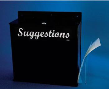 ACRYLIC SUGGESTIONS BOX