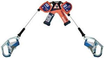 3M DBI-SALA 3500257 Twin Leg 7.3 ft Nano-Lok Edge Self Retracting Lifeline - Cable
