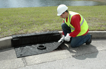 UltraTech Inlet Guard Plus - 2'x4' Curb Style - with overflow port - Sediment Model - 9165