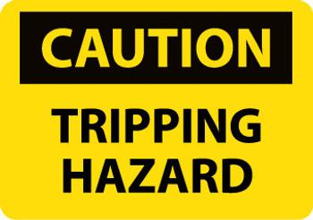 CAUTION, TRIPPING HAZARD, 10X14, .040 ALUM
