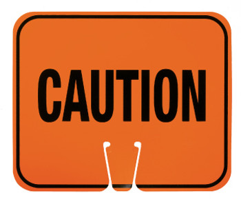 SAFETY CONE SIGNS, CAUTION, 10.375 X 12.625