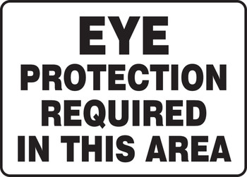 """Safety Sign: Eye Protection Required In This Area 10"""" x 14"""" - MPPE532VA10"""
