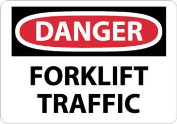 DANGER, FORKLIFT TRAFFIC, 10X14, .040 ALUM