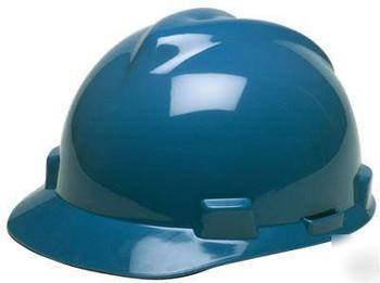 MSA V-Gard Blue Ratchet Hard Hat - 475359