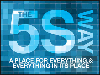 """SS Motivational Poster: The 5S Way - A Place For Everything & Everything In Its Place 18"""" x 24"""" - PST188"""