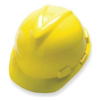 MSA V-Gard Yellow Ratchet Hard Hat - 475360