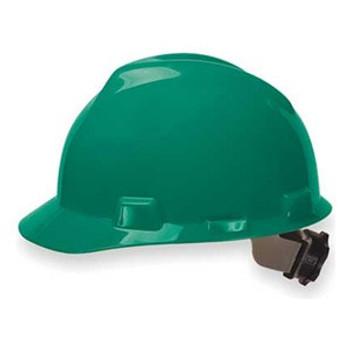 MSA V-Gard Green Ratchet Hard Hat - 475362