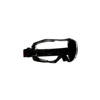 3M GoggleGear 6000 Series GG6001SGAF-BLK Black Shroud Scotchgard Anti-Fog Coating Clear AF-AS Lens 10ea/cs