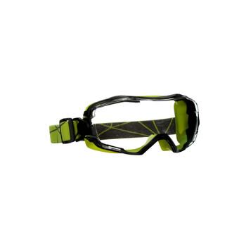 3M GoggleGear 6000 Series GG6001SGAF-GRN Green Shroud Scotchgard Anti-Fog Coating Clear AF-AS Lens 10ea/cs