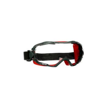 3M GoggleGear 6000 Series GG6001SGAF-RED Red Shroud Scotchgard Anti-Fog Coating Clear AF-AS Lens 10ea/cs