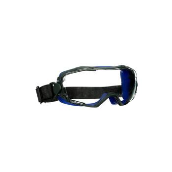 3M GoggleGear 6000 Series GG6001NSGAF-BLU Blue Shroud Neoprene Strap Scotchgard Anti-Fog Coating Clear AF-AS lens 10ea/cs