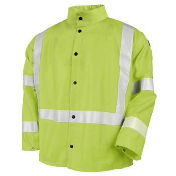 Revco Hi-Viz 9 oz. Welding Jacket with Reflective Stripes - JF1012-LM