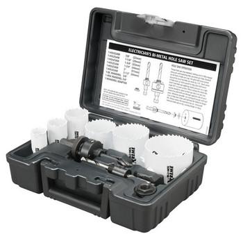 Disston® Blu-Mol® Xtreme Bi-Metal Electrician's 9-Piece Hole Saw Kit, Standard