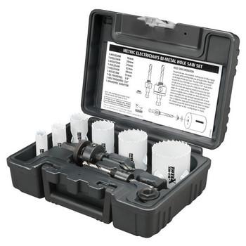 Disston® Blu-Mol® Xtreme Bi-Metal Electrician's 9-Piece Hole Saw Kit, Metric