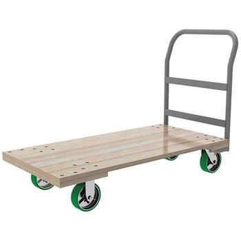 "Akro-Mils® Series 5 Wood Platform Truck, 24"" x 48"" Deck w/ 6"" Polyurethane Casters, 2400 lb"