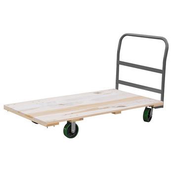 "Akro-Mils® Series 5 Wood Platform Truck, 30"" x 60"" Deck w/ 6"" Polyurethane Casters, 2600 lb"