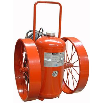 "Buckeye 300 lb Purple K Cartridge Operated Wheeled Fire Extinguisher w/ Steel Wheels, 58""H x 36""W x 48""D, 320B:C"