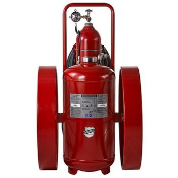 "Buckeye 300 lb Purple K Regulated Pressure Wheeled Fire Extinguisher w/ Steel Wheels, 58""H x 36""W x 48""D, 320B:C"