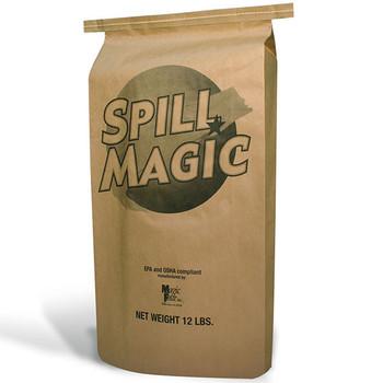 Spill Magic Absorbent Powder w/ Plastic-Lined Bag, 12 lb