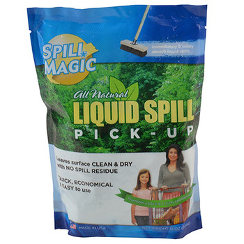 Spill Magic Absorbent Powder w/ Single-Use Plastic Bag, 12 oz