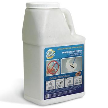 Spill Magic Absorbent Powder w/ Refillable Plastic Bottle, 3 lb