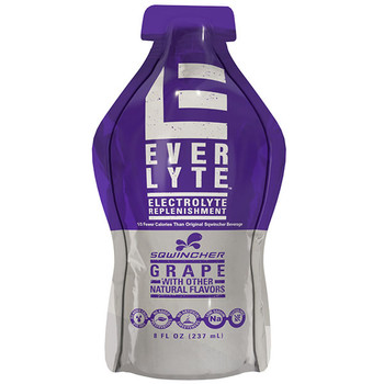 Sqwincher® EverLyte™ Ready-To-Drink Pouches, 8 oz Serving, 8 oz Yield, Grape